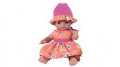 "Кукла-пупс ""Полина"" в оранжевом, без коробки, 32 см"