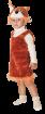 """Карнавальный костюм """"Белочка (мех)"""", 104-128 см, 4-7 лет, р. 30, 32"""