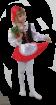 """Карнавальный костюм """"Красная шапочка"""", 104-128 см, 4-7 лет, р. 30, 34"""