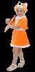 """Карнавальный костюм """"Лисичка (велюр)"""", 104-122 см. 4-6 лет, р. 30, 32"""