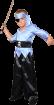 """Карнавальный костюм """"Пират (полоска)"""", 92-98 см, 2 года, р. 28"""