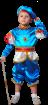 """Карнавальный костюм """"Принц бирюзовый атлас"""", 104-128 см, 4-7 лет, р. 30, 32, 34"""