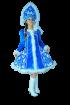 """Карнавальный костюм """"Снегурочка велюр с аппликацией"""", 46-52 размер"""