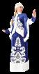 """Карнавальный костюм """"Снегурочка Звездная ночь (длинная)"""", 48 размер"""