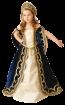 "Карнавальный костюм ""Царица (синий бархат)"", 104-140 см, 4-10 лет, р. 30, 32, 34"