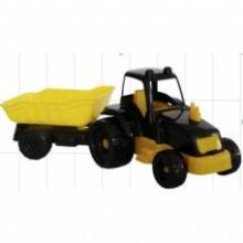 Машинка трактор  с прицепом, Kinderway