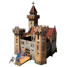 """Игровой набор из картона (сборный замок с героями) """"Рыцарский замок"""""""