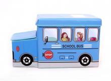 Детский пуф  Автобус синий, Украина