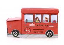 Детский пуф  Автобус красный, Украина