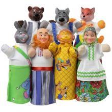 """Кукольный театр """"КОЛОБОК"""" (премиум упаковка, 7 персонажей, книжка)"""