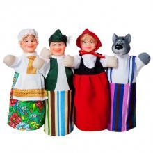 """Домашний кукольный театр """"КРАСНАЯ ШАПОЧКА"""" (4 персонажа)"""