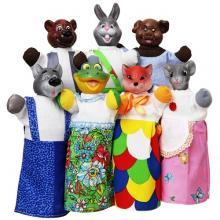 """Кукольный театр """"РУКАВИЧКА"""" (премиум упаковка, 7 персонажей, книжка)"""