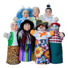 """Кукольный театр """"БУРАТИНО"""" (премиум упаковка, 7 персонажей, книжка)"""