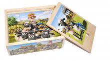 Деревянные кубики Барашек Шон (12 шт)