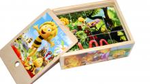Деревянные кубики Пчёлка Майя (12 шт)
