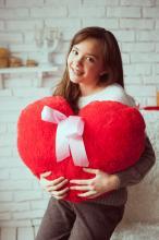 Плюшевое Сердце подушка 57 см
