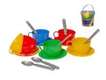 Чайный игрушечный сервиз в ведёрке, арт.0083, Технок