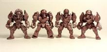 Фобосы отряд ЗвеРоботов, 4 коллекционные фигурки, цвет бордо, Технолог