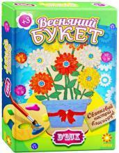 """Деревянная раскраска-""""Весенний букет № 1"""""""