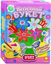 """Деревянная раскраска-""""Весенний букет № 2"""""""