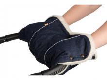 Муфта для коляски Kinder Comfort 6006 Jeans (в ассортименте), подкладка - овчина