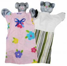 """Набор кукол-рукавичек """"КОТ И МЫШКА"""" (2 персонажа)"""