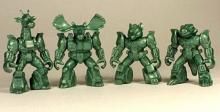 Отряд ЗвеРоботов 90-х №2 , 4 коллекционные фигурки, цвет зелёный, Технолог