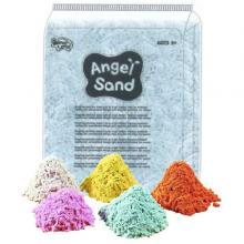 Песок для творчества в коробке Angel Sand, белый, цветной, 3.6л