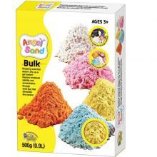 Песок для творчества в коробке Angel Sand, белый, цветной, 0.9л