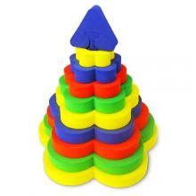 Мягкие 3D пазлы-Пирамида Цветок
