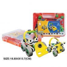 """Пластиковый гибкий конструктор """"Бульдозер и машина"""" (2 модели), Build&Play"""