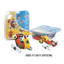 "Конструктор ""Вертолёт и снегоход"" (2 модели), гибкий пластик, Build&Play"