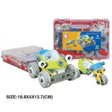 """Пластиковый гибкий конструктор """"Внедорожник и дрегестер"""" (2 модели), Build&Play"""