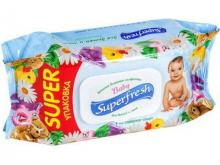Super Fresh Серветка волога д/дітей та мам з клапаном 120шт ОПТ
