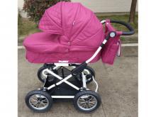 Универсальная коляска 2 в 1 Baby Tilly Family T-181 Crimson (розовая)