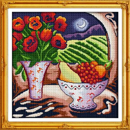"""Вышивка крестиком """"Цветы и"""